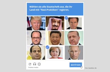 Captcha Nazi-Methoden - Der Gazetteur