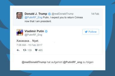 Putin Trump Twitter - Der Gazetteur