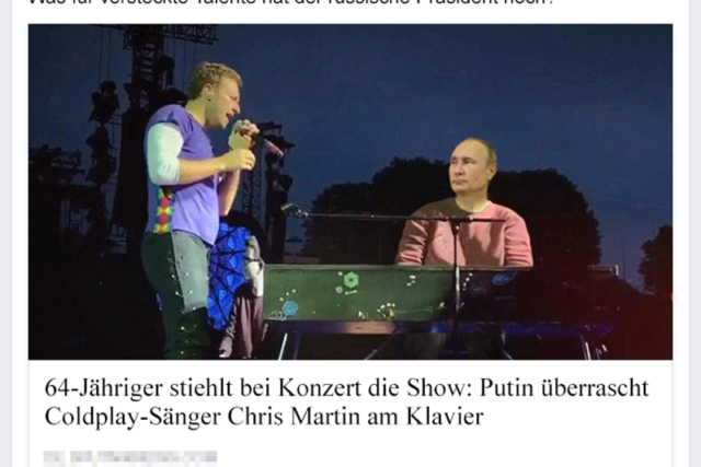 Putin bei Coldplay - Der Gazetteur
