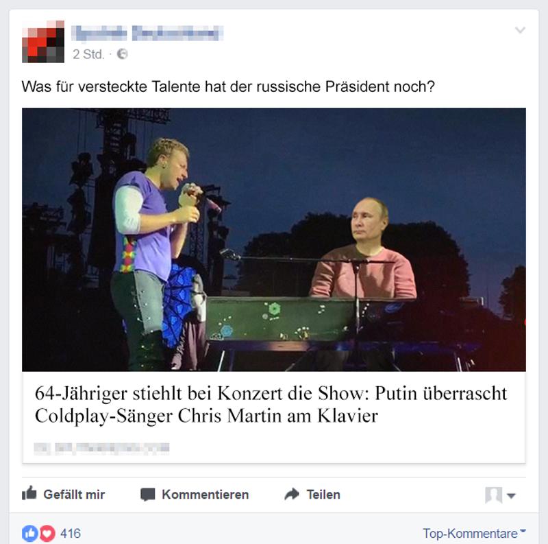 Putin bei Coldplay - Der Gazetteur