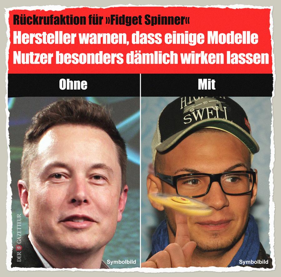 Rueckrufaktion für Spinner - Der Gazetteur