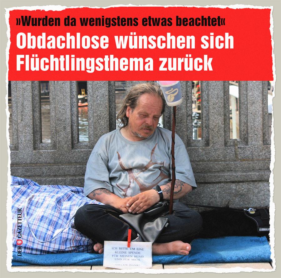 Flüchtige Obdachlosenhilfe - Der Gazetteur