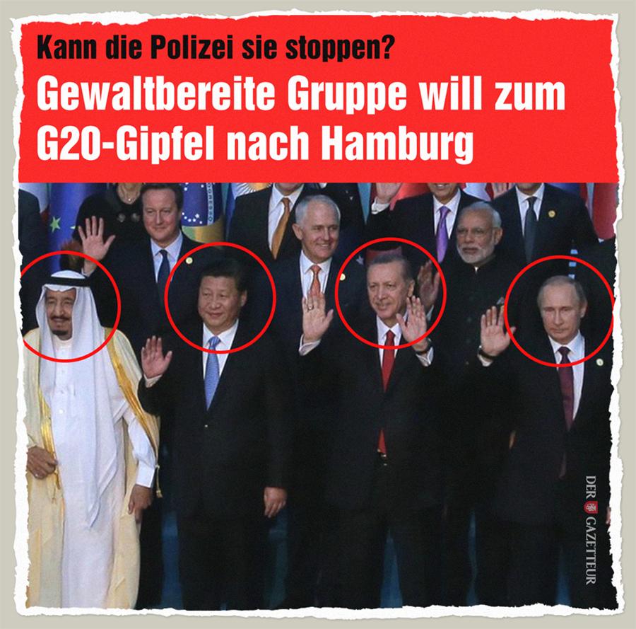 Gewaltbereite G20 - Der Gazetteur
