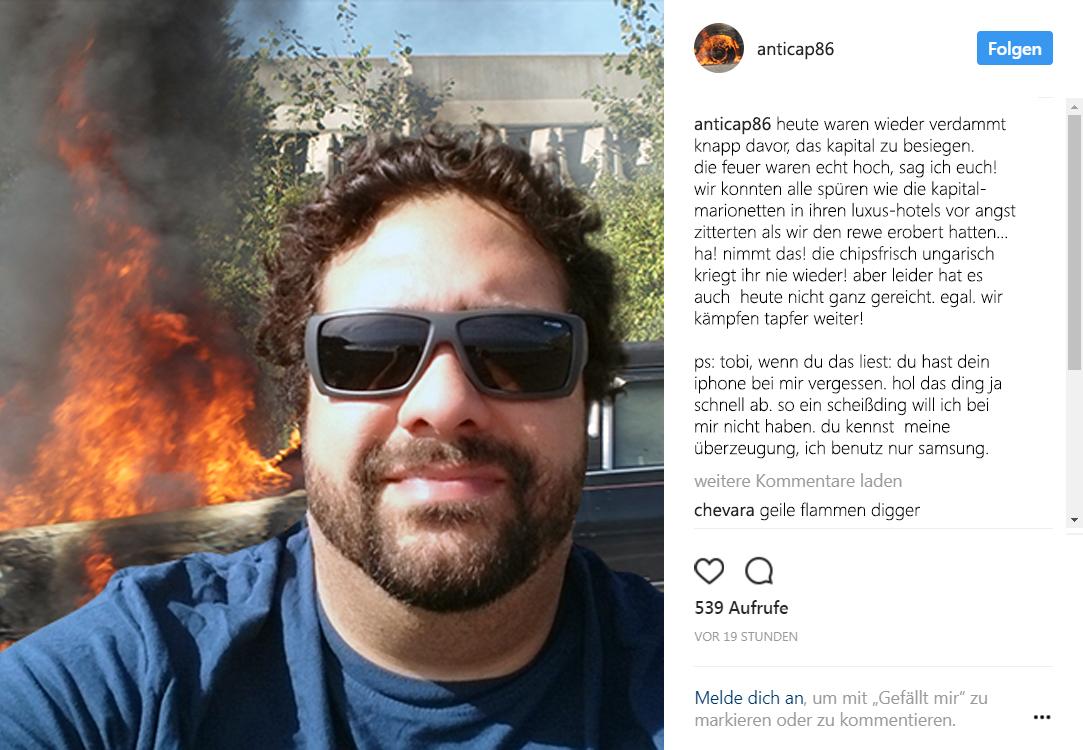 Kapitalismuskritik-Selfie - Der Gazetteur