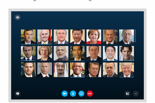 G20 ueber Skype - Der Gazetteur