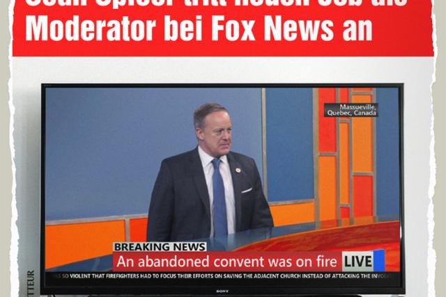 Spicer bei Fox News - Der Gazetteur