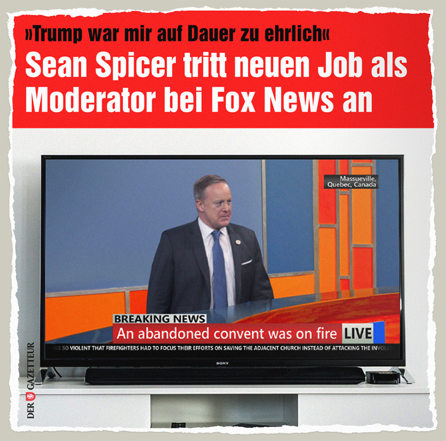 Spicer bei Fox News - Der Gazetteur