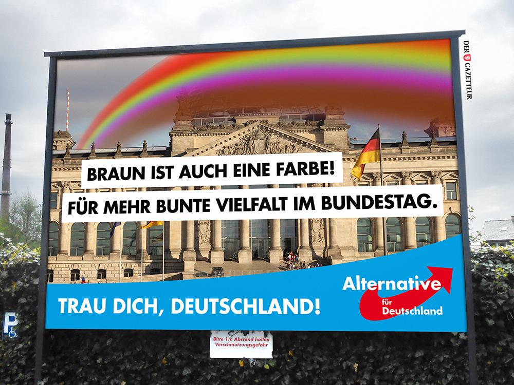 """AfD-Wahlplakat """"Braune Vielfalt"""" - Der Gazetteur"""