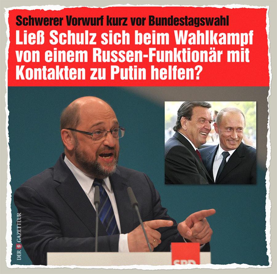 SPD-Kontakte zu Putin - Der Gazetteur