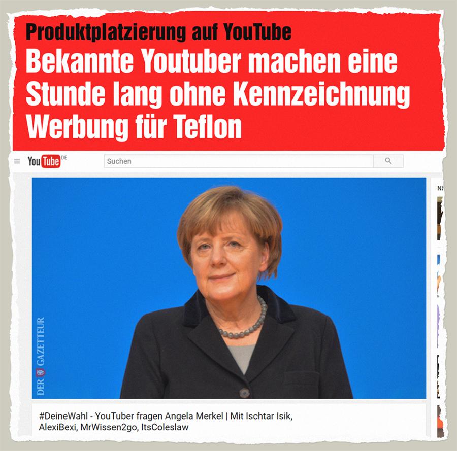 Produktplatzierung auf YouTube - Der Gazetteur