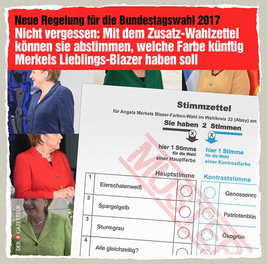 Bundesblazerwahl - Der Gazetteur