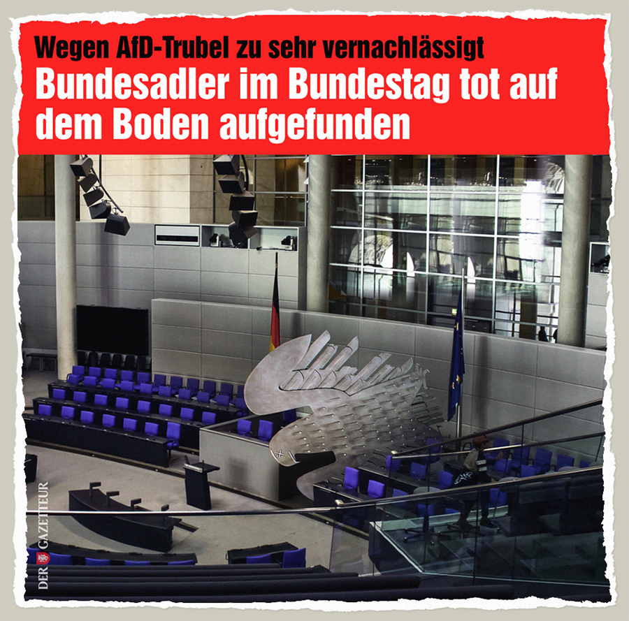 Bundesadler tot - Der Gazetteur