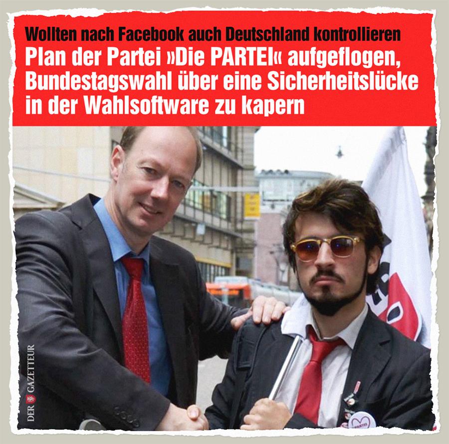 Die PARTEI Machenschaften - Der Gazetteur