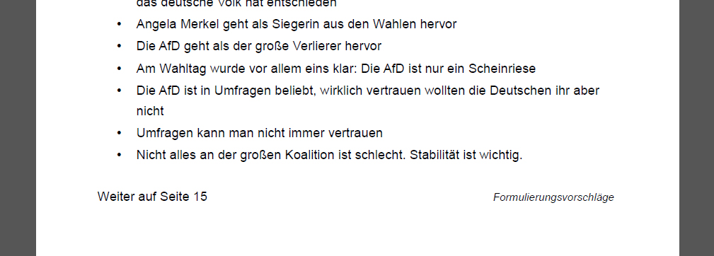 Formulierungsvorschläge für Wahlabend - Der Gazetteur