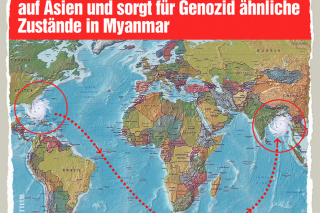 Hurrikan in Myanmar - Der Gazetteur