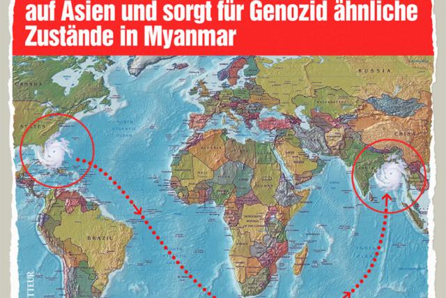 Hurrikan in Myanmar - Der Gazetteur