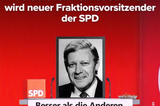 Fraktionsvorsitzender Helmut Schmidt - Der Gazetteur