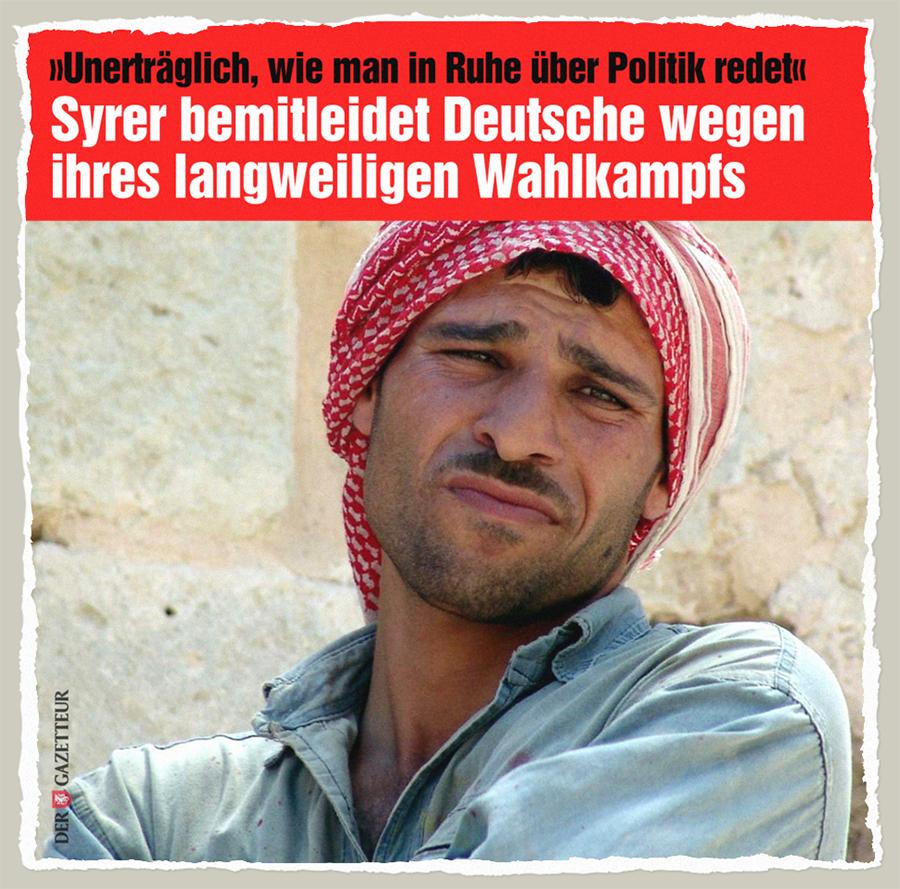 Gelangweilter Syrier - Der Gazetteur