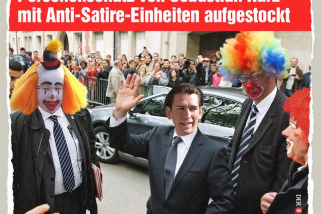 Anti-Satire-Einheit für Sebastian Kurz - Der Gazetteur