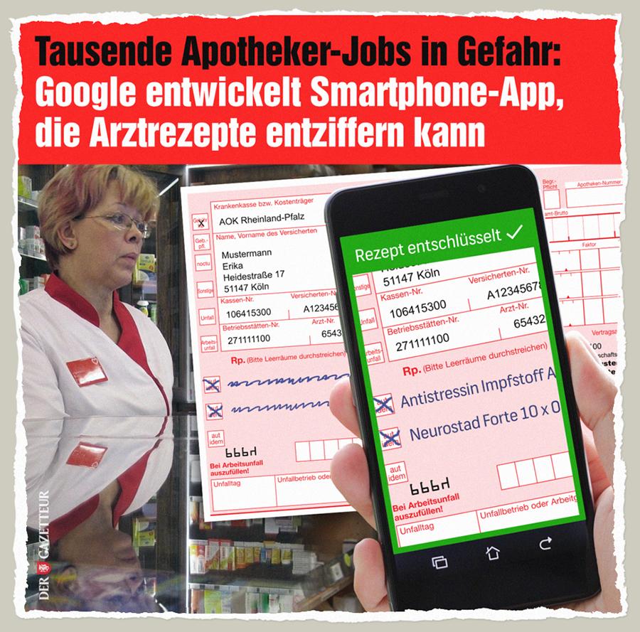 Apotheker bald ueberfluessig - Der Gazetteur