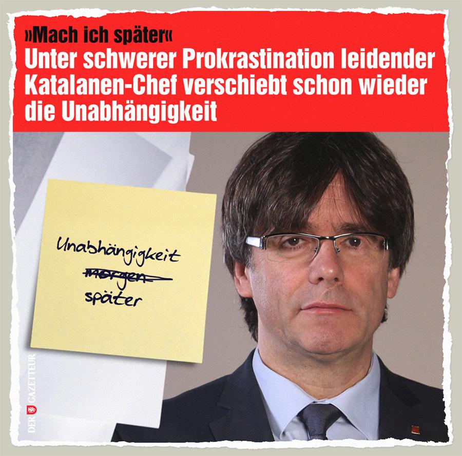 Katalanische Prokrastination - Der Gazetteur