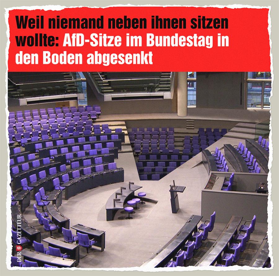 Neue Sitzordnung Bundestag - Der Gazetteur