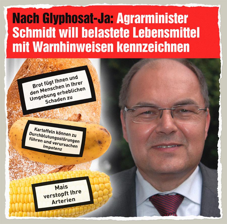 Glyphosat-Warnhinweise - Der Gazetteur
