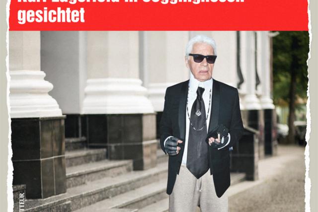 Lagerfeld in Jogginghosen - Der Gazetteur