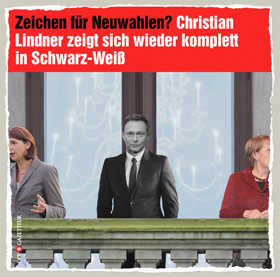 Lindners schwarz-weisser Wahlstress - Der Gazetteur