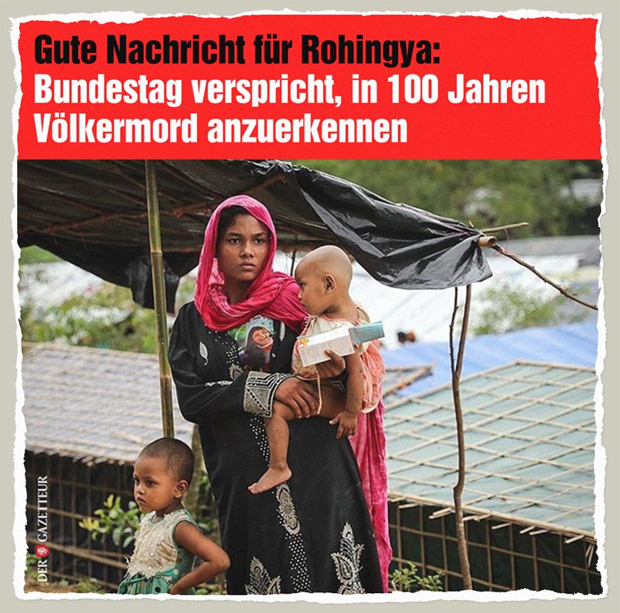 Erfreuliches fuer Rohingya - Der Gazetteur