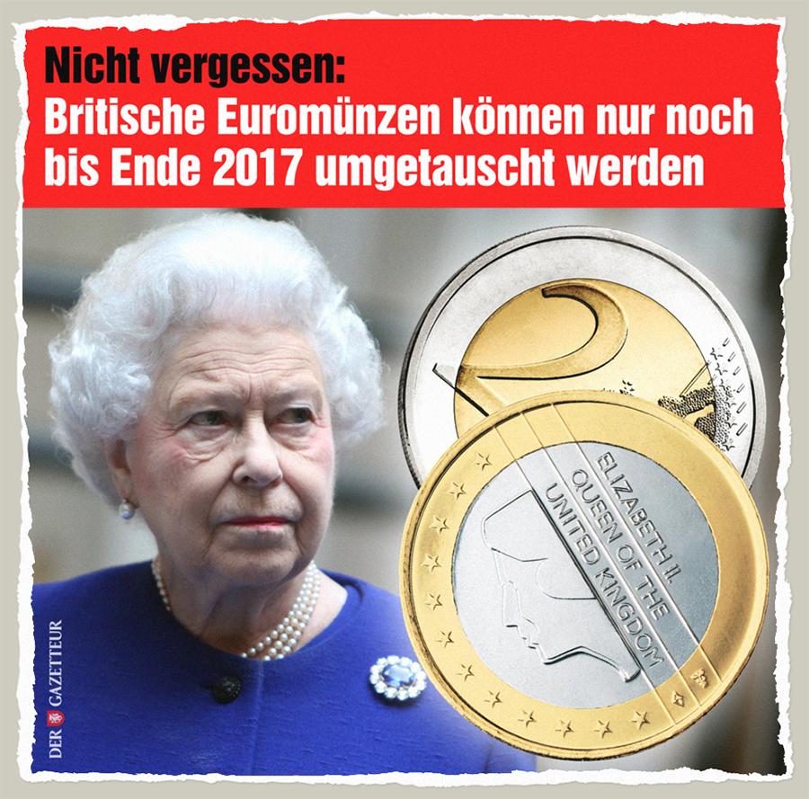 Britische Euromuenzen - Der Gazetteur