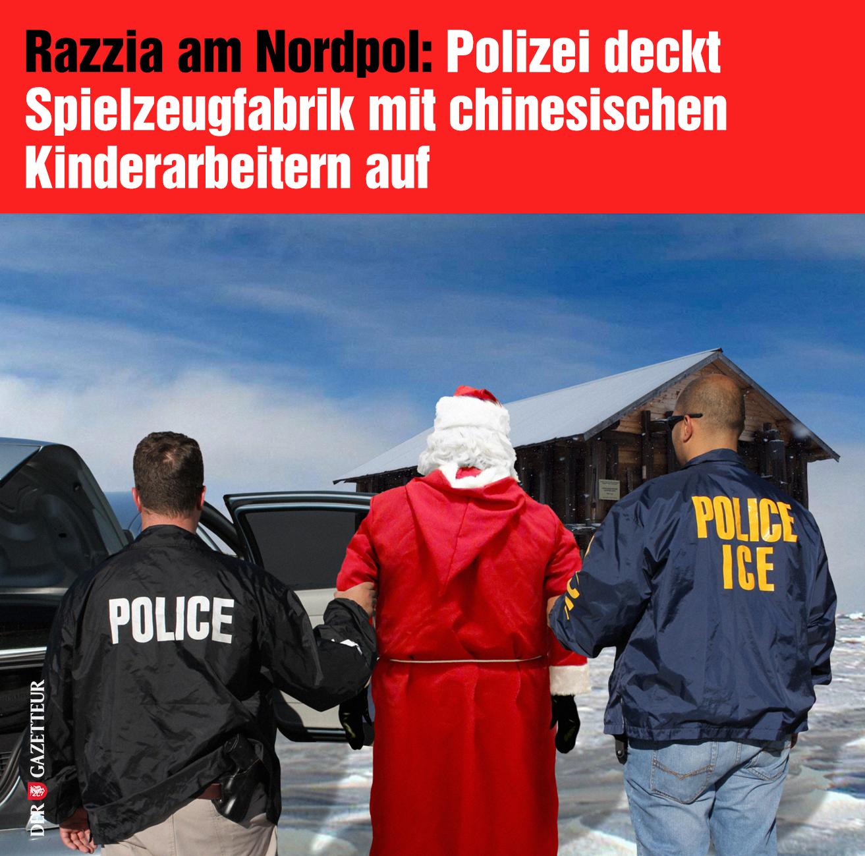 Razzia beim Weihnachtsmann - Der Gazetteur