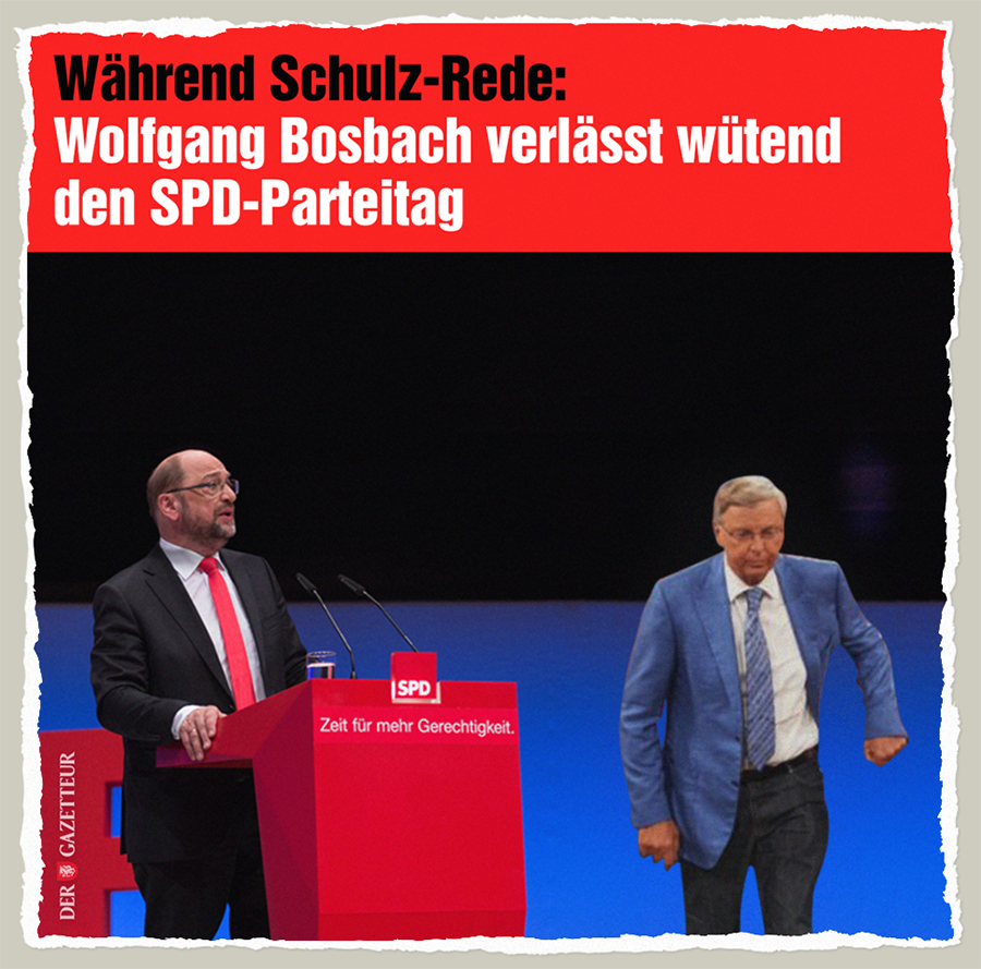 Bosbach leaving SPD - Der Gazetteur