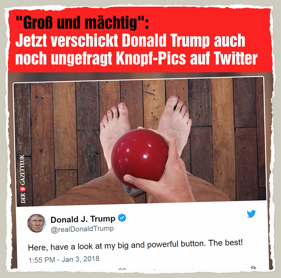 Trumps Buttonpic - Der Gazetteur
