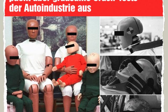 Grausame Tests an Dummys - Der Gazetteur