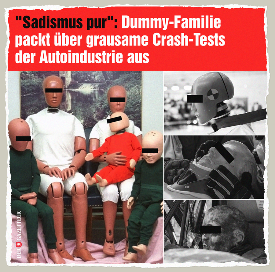 Grausame Tests an Dummys - Der Gazetteur