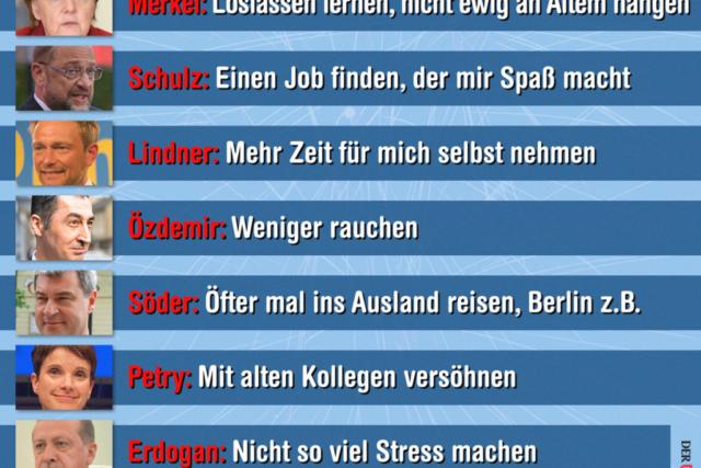 Vorsaetze der Politiker fuer 2018 - Der Gazetteur