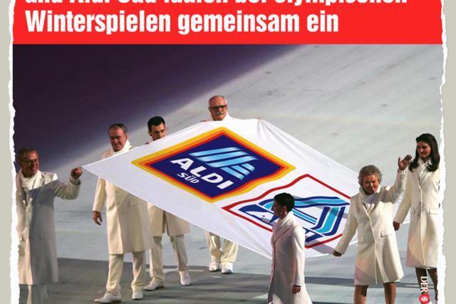 Aldi bei Olympia - Der Gazetteur