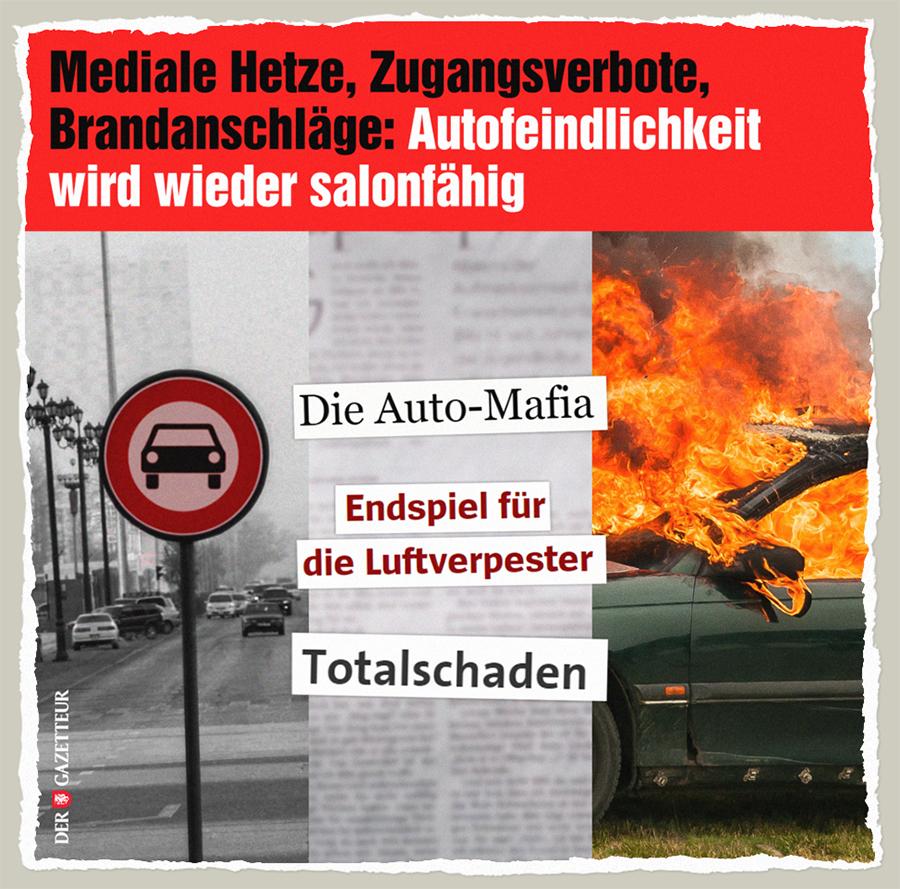 Autofeindlichkeit salonfaehig - Der Gazetteur