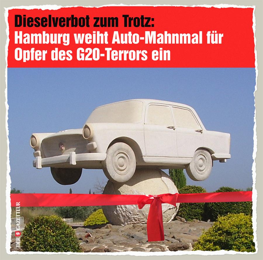 Auto-Mahnmal - Der Gazetteur