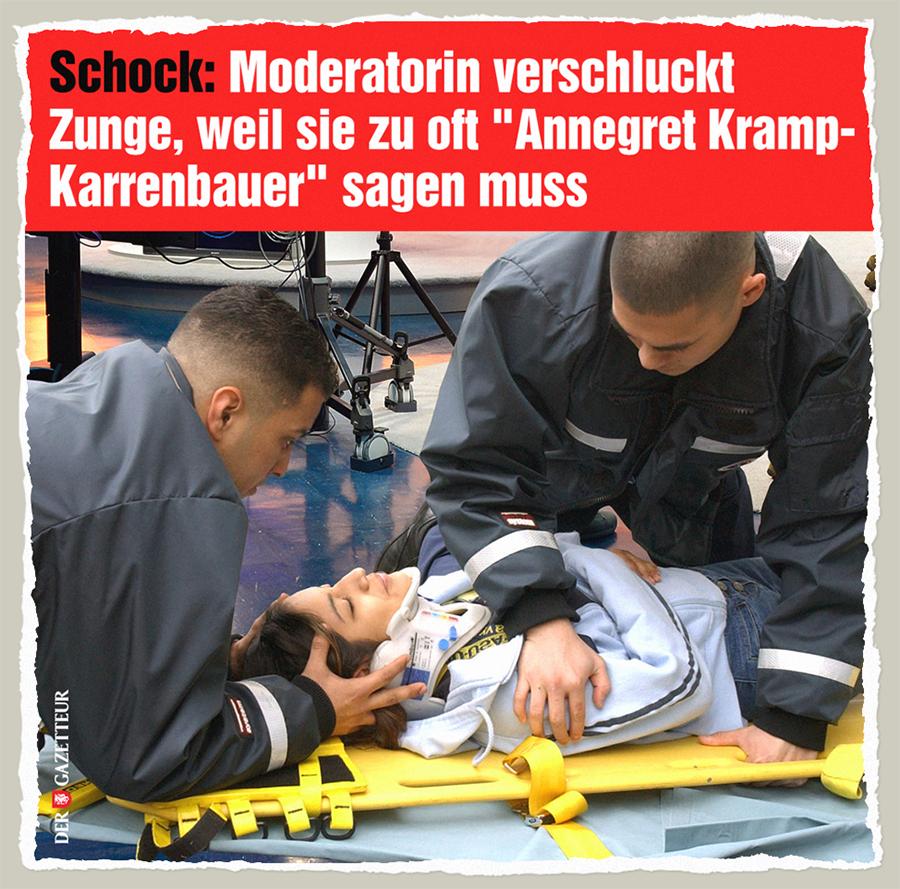 AKK-Moderatorin - Der Gazetteur