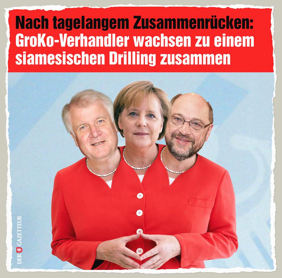 Siamesische GroKo-Drillinge - Der Gazetteur