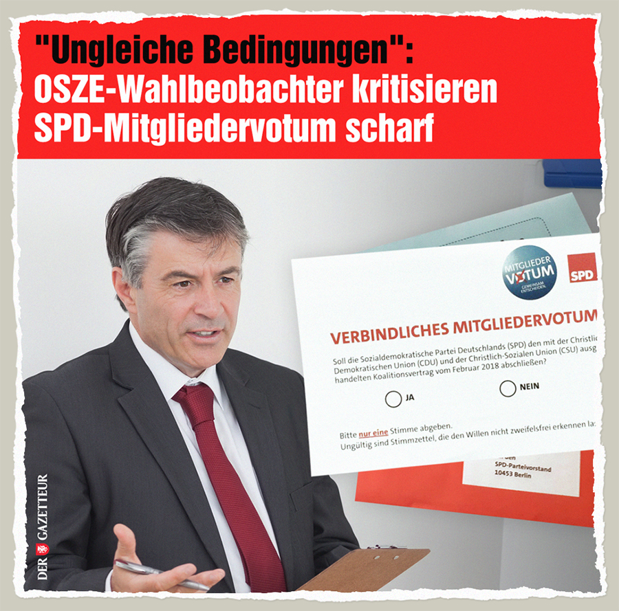 SPD vs OSZE - Der Gazetteur