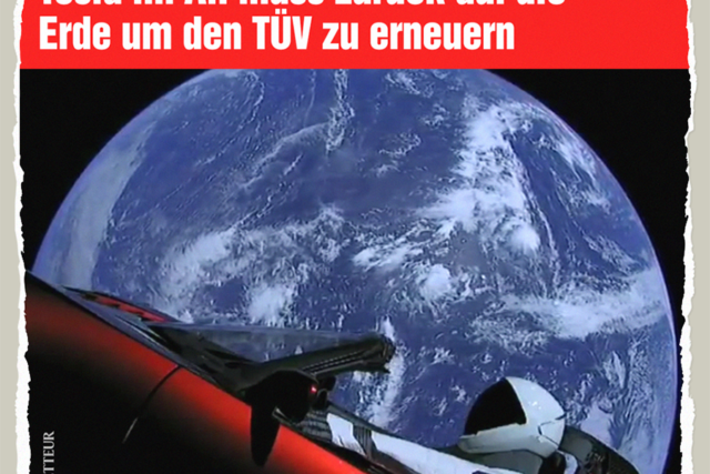 Tesla im All braucht TUEV - Der Gazetteur
