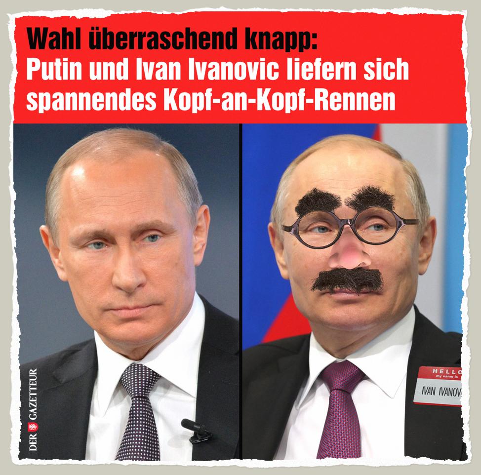 Putin an Putin Rennen - Der Gazetteur