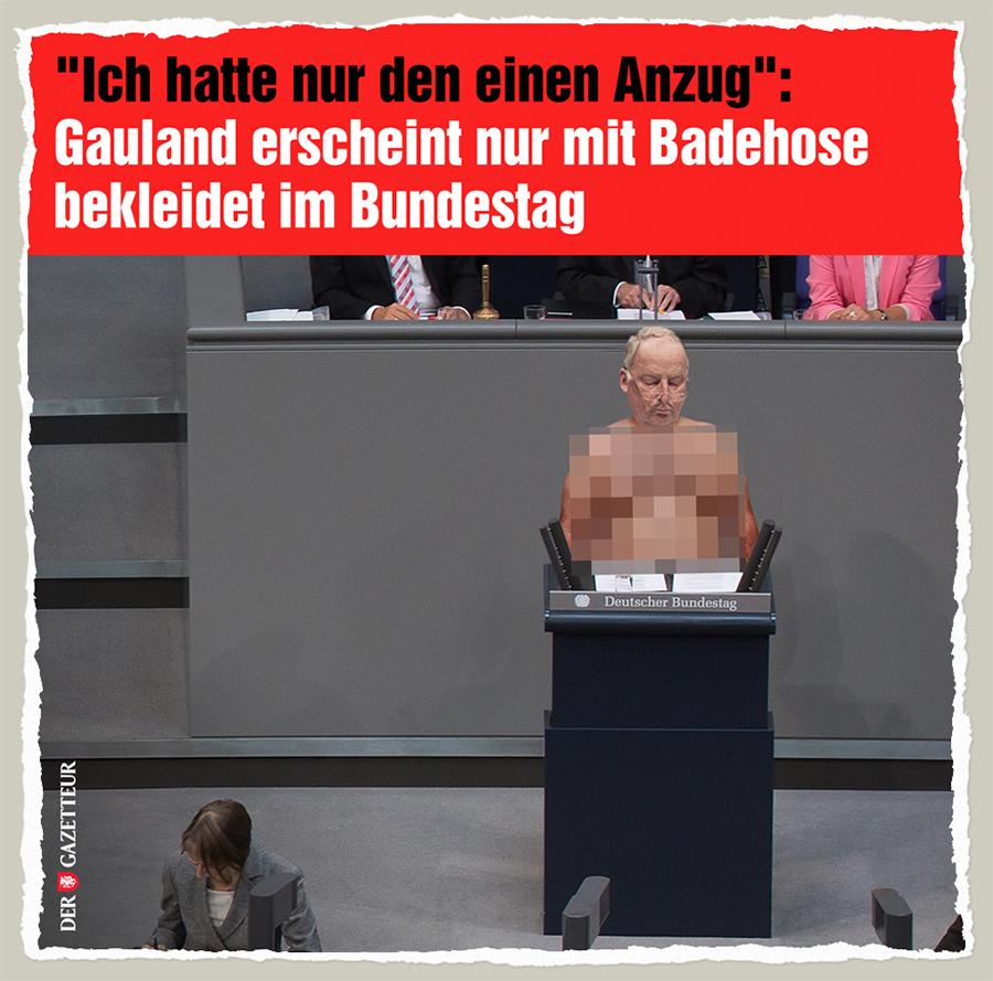Oben ohne im Bundestag - Der Gazetteur