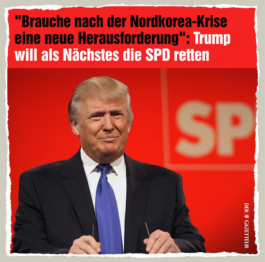 Trump rettet die SPD - Der Gazetteur