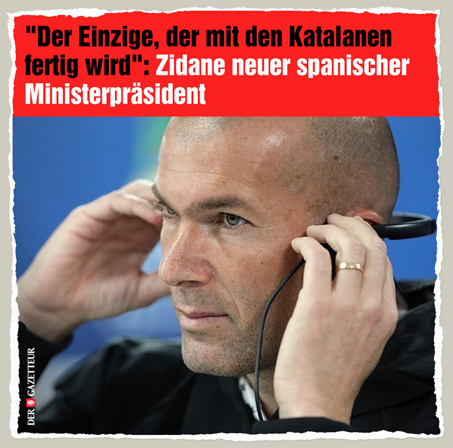 Zidanes neuer Job - Der Gazetteur
